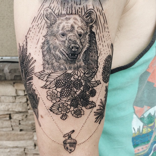 Nature-Inspired Tattoos Combine Vintage-Style Etchings of Fauna - tattoo artist resume