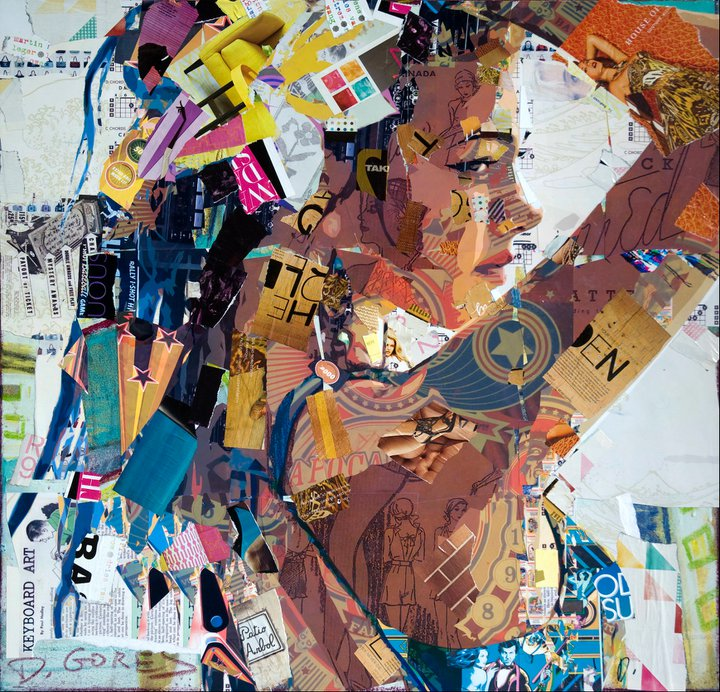 Collage Artist Masterfully Controls Chaos