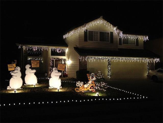Calvin and Hobbes Christmas Lawn Decorations - christmas lawn decorations