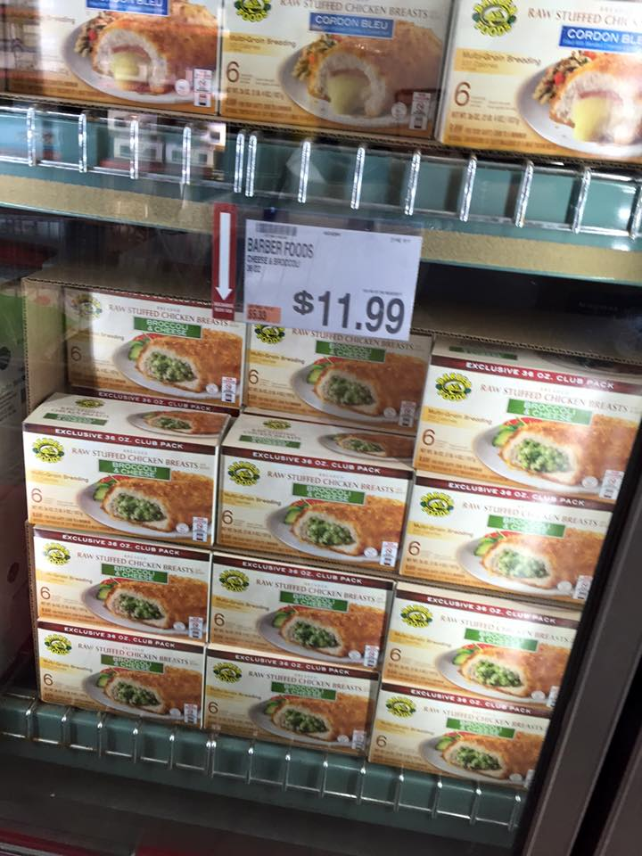 Barber Foods Coupon : Barber Foods Stuffed Chicken Breasts 36 oz Box at BJs