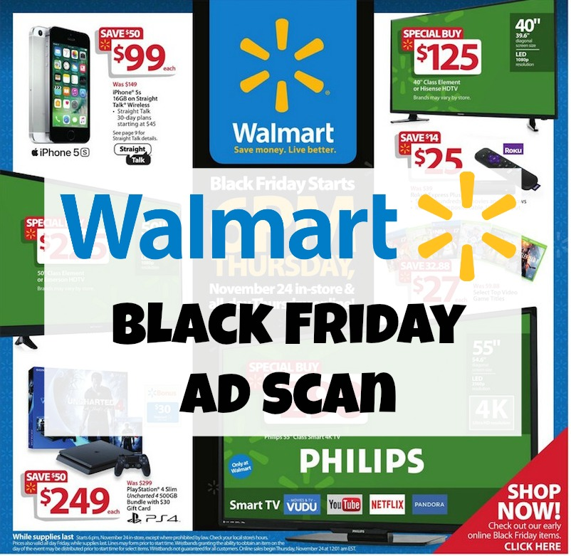 You'll be able to shop both in-store or online for Black Friday at Walmart. Online sales have historically began at AM on Thanksgiving day, which then carry on through Friday. Online sales have historically began at AM on Thanksgiving day, which then carry on through Friday.