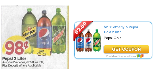 *HOT* New Pepsi Coupons Makes 2 Liters Only $9.58 at Tops (starting 12/11)