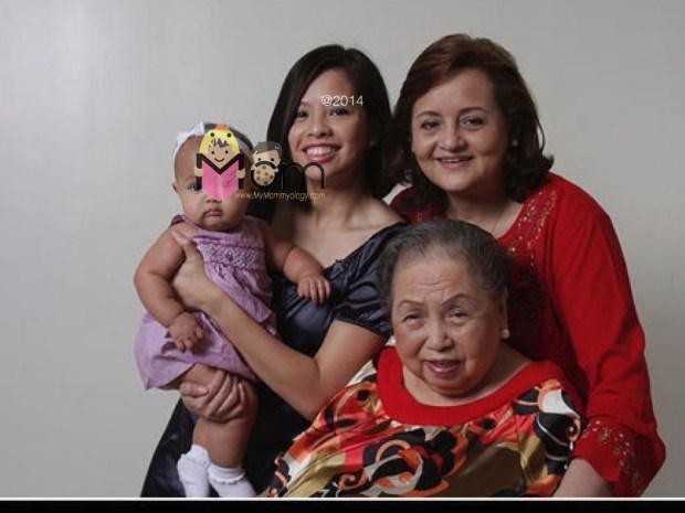 Four generations of women in my family. :)