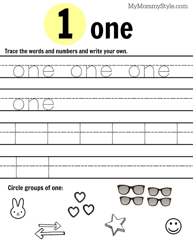 Free Printable Number Worksheets 19 My Mommy Style – Printable Number Worksheets