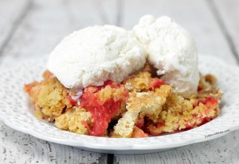 Rhubarb Cherry Dump Cake