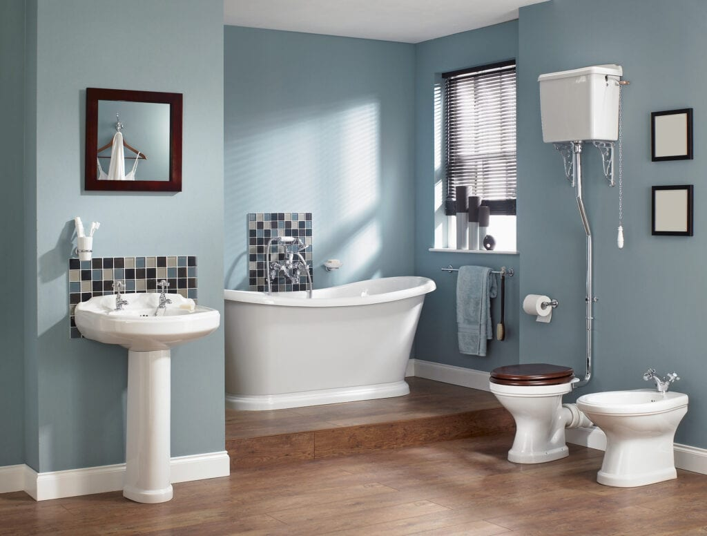 Selling or Renovating? Blue Bathrooms (Like These) Sell for More Bucks