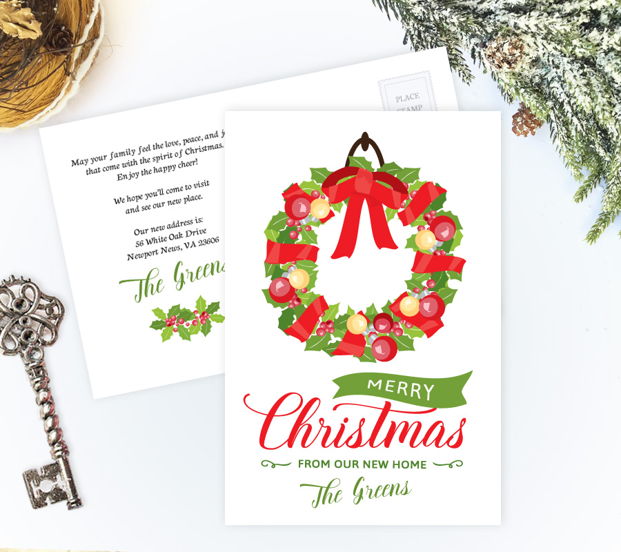 We\u0027ve moved Christmas cards Personalized Moving Cards - how to address christmas cards