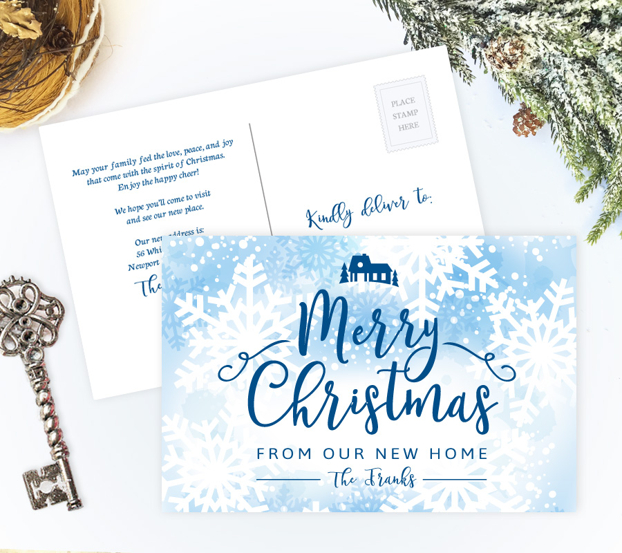 Christmas Moving Announcements Personalized Moving Cards - how to address christmas cards