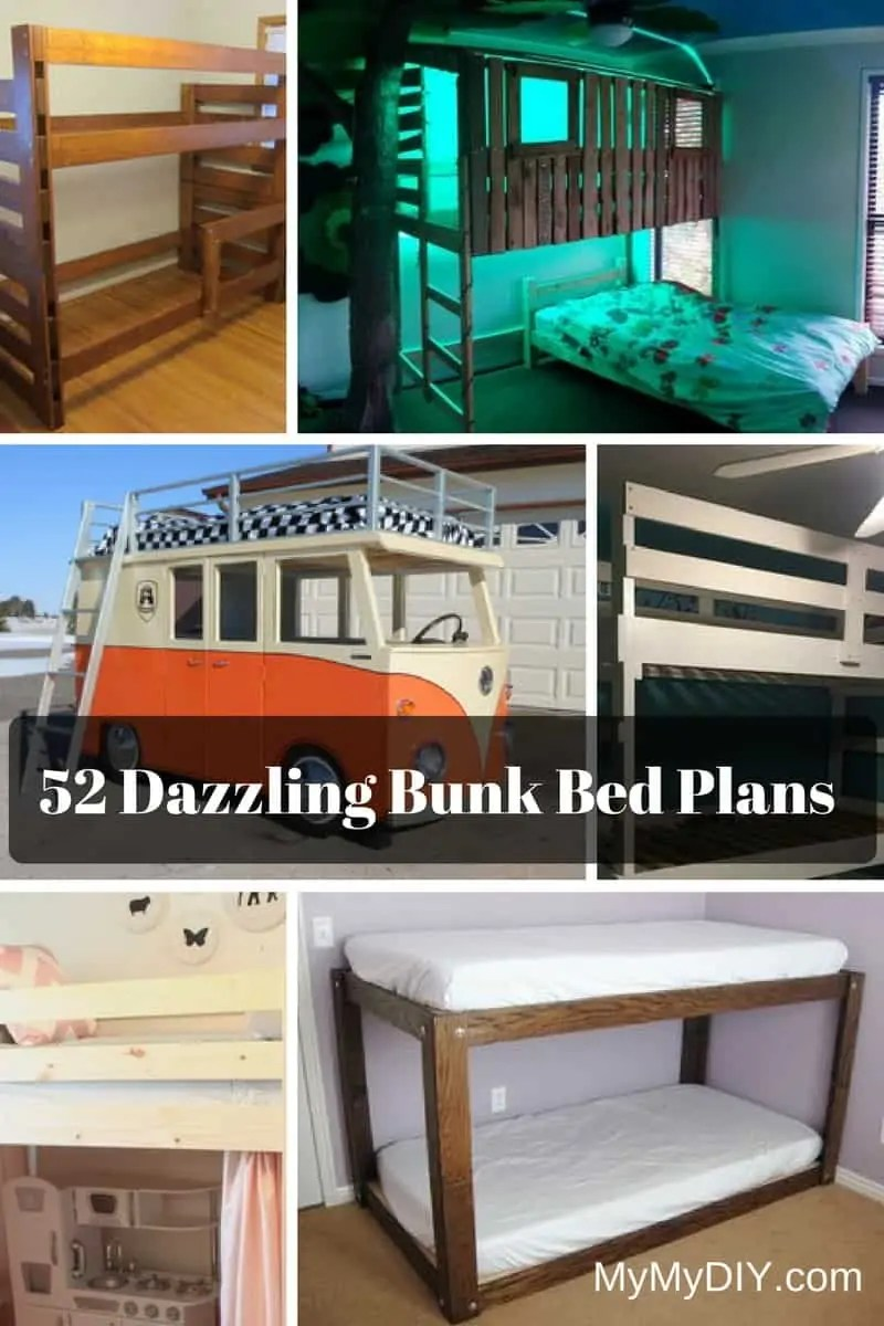 Diy Minimalist Bed Frame 52 Awesome Diy Bunk Bed Plans Mymydiy Inspiring Diy Projects