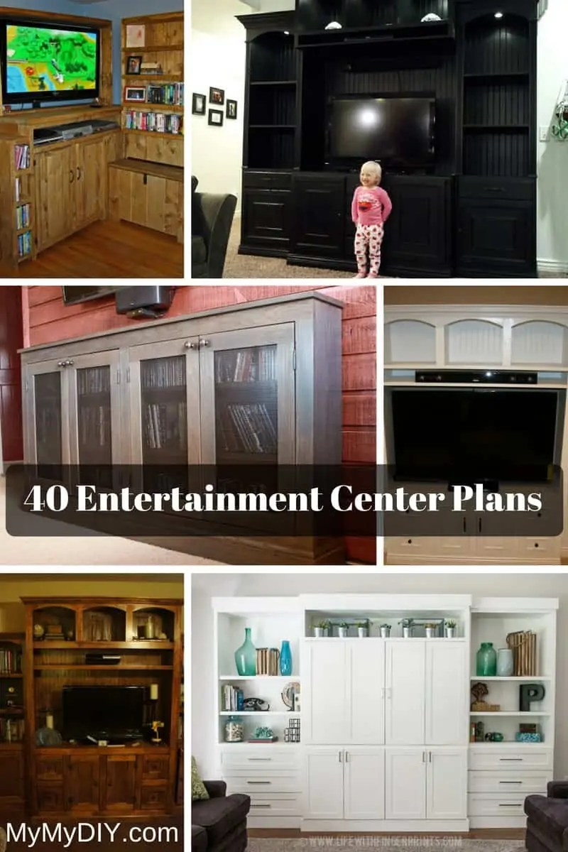 Diy Small Entertainment Center 40 Diy Entertainment Center Plans Ranked Mymydiy Inspiring