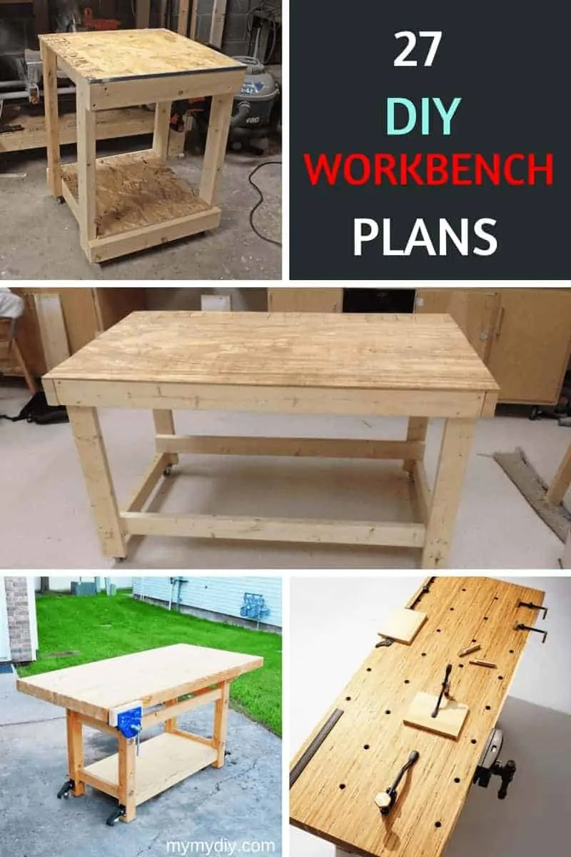 Diy Workbench With Wheels 27 Sturdy Diy Workbench Plans Ultimate List Mymydiy