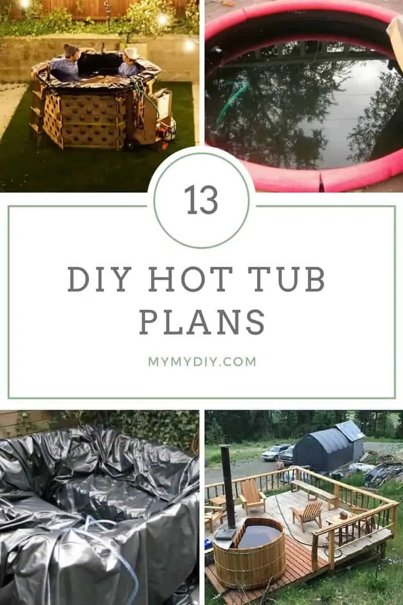 13 Steamy Diy Hot Tub Plans Free List Mymydiy Inspiring Diy Projects