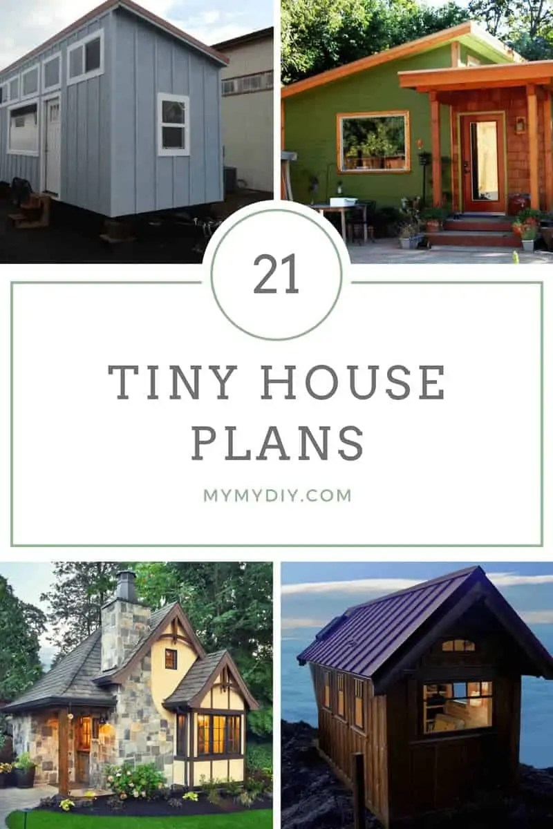 Tiny House With Garage Plans 21 Diy Tiny House Plans Blueprints Mymydiy Inspiring Diy