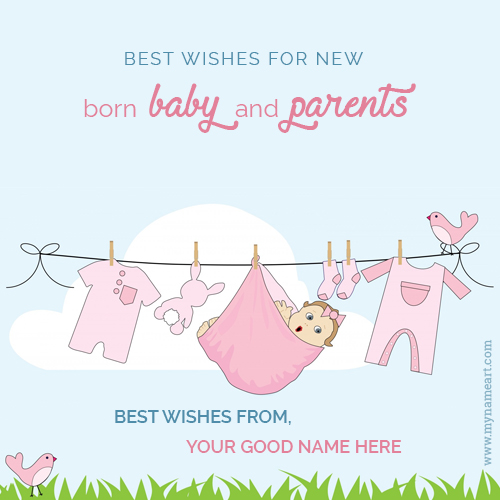 New Born Baby Wishes Congratulation Message With Name wishes - baby congratulation card