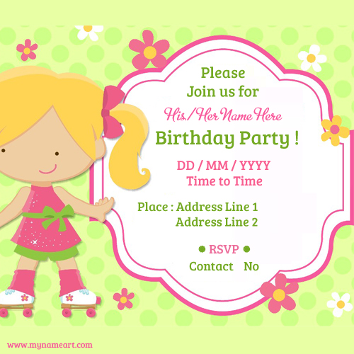 Child Birthday Party Invitations Cards wishes greeting card - create invitations online free no download