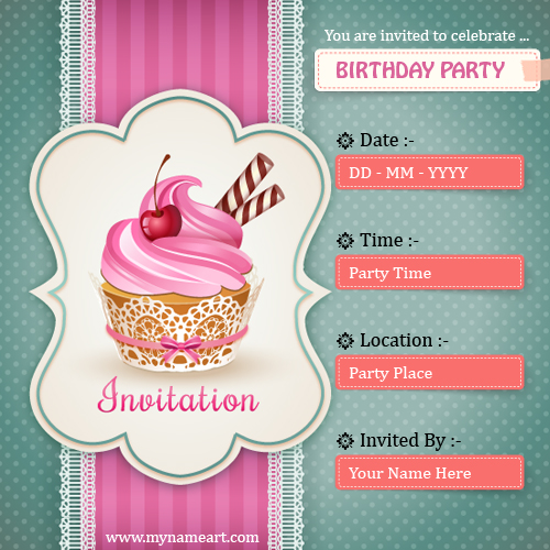 how to make a birthday invitation online for free
