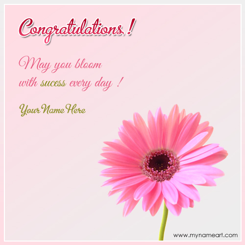 Congratulations On Success With Quotes And Name wishes greeting card - congratulations for or on