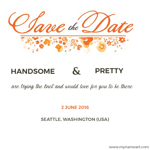Write Bride And Groom Name On Marriage Invitations Cards Online