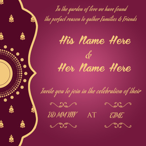 Create Wedding Invitation Card Online Free wishes greeting card - create engagement invitation card online free