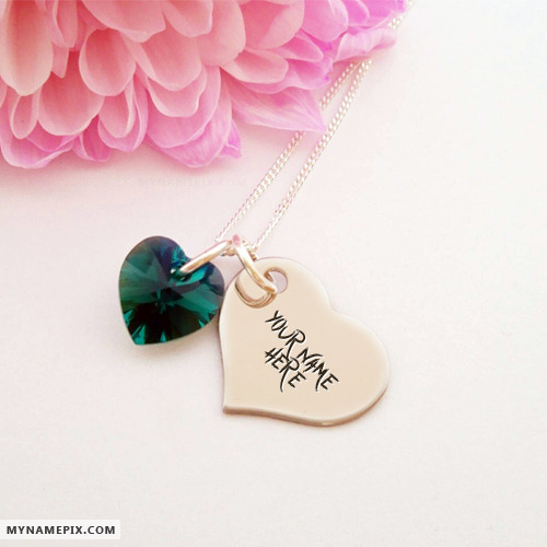 Happy Baby Girl Wallpaper Personalized Heart Nick Necklace With Name