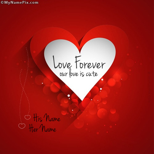 Cute Together Forever Wallpaper Love Forever With Name
