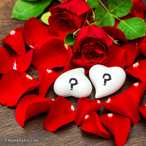 Friendship Wallpapers Of Boy And Girl Rose Petals And Hearts With Name