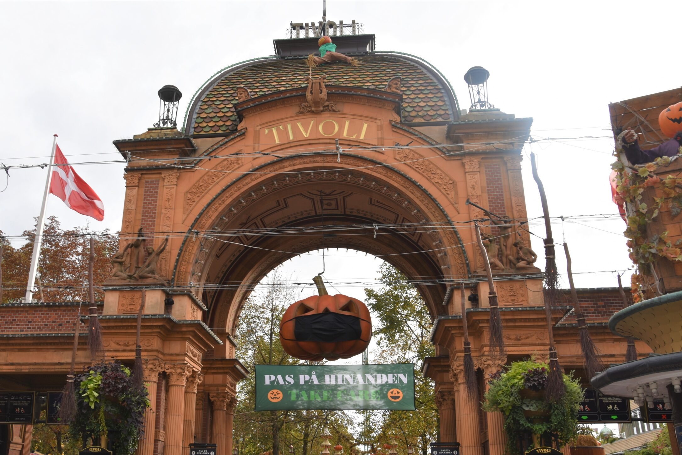 Tivoli Gardens Amusement Park In Copenhagen Denmark At Halloween My New Danish Life