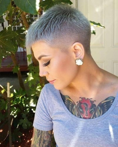 Long Punk Haircuts 30 Shaved Hairstyles For Women For The Bold Daring My