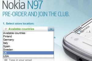 UK added to the Nokia N97 Pre-Order List