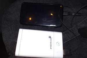 Comparison photos: Nokia N900 vs N97 vs N95(1) vs N800 vs N82 vs a proporta charger.