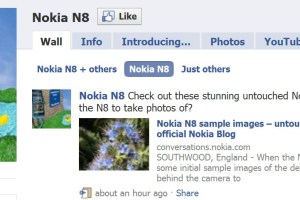 Nokia N8's 'official' Facebook page