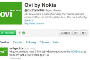 Ovi Store reaches 3.5 Million Downloads a day! Up from 3M 3 weeks ago.