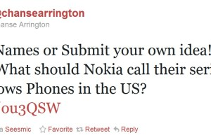 Poll: Submit Name idea for Nokia series of Windows Phone (USA) asks Chanse from Nokia