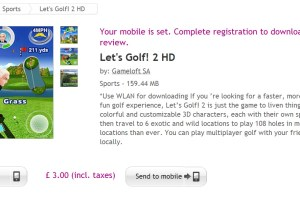 Let's Golf! 2 HD available at Ovi Store #Gameloft 159MB