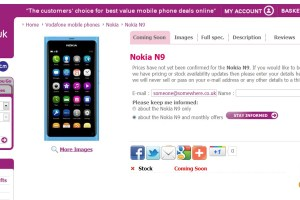 Nokia N9 at Carphone Warehouse's Mobiles.co.uk store