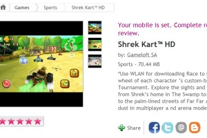 Gameloft's Shrek HD available at Ovi Store