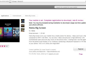 Nokia Big Screen updated with Belle Support