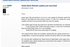 Hurrah! Firmware Update Belle Refresh officially available for Nokia N8, E7, C7, C6-01, X7 and Nokia Oro! #Symbian