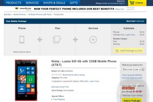 Nokia Lumia 920 yellow/cyan/black/red/white available at Best Buy pre-order