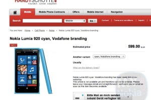 Cyan Nokia Lumia 920 heading to Europe?