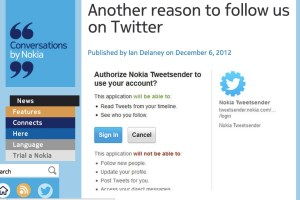 NokConv: TweetSender – Another Reason to Follow Nokia on Twitter #FF @Nokia – DMs for new apps and software updates