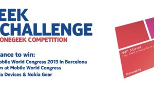Win a free trip to MWC 2013 and customised Nokia Lumia devices and Nokia Gear (Free 920 successor :P?) Lumia Geek 8 Week Challenge