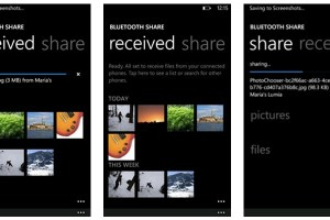 Bluetooth Sharing app for WP7.8 available at Marketplace