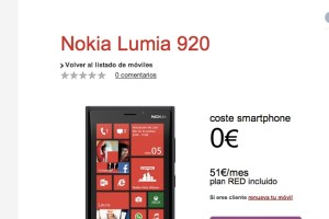 Vodafone Spain launches Nokia Lumia 920