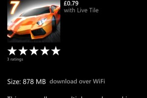 Lumiapps: Asphalt 7 Finally pushed for WP(8?) Available in store for 0.99USD/0.79GBP