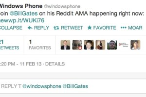 RT @WindowsPhone: Join @BillGates on his Reddit AMA happening right now