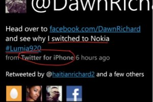 Dawn Richards switching from Lumia, PR people tweeting from iPhone