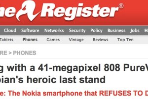 The Register: Nokia 808 PureView, 41MP Symbian's heroic last stand, the smartphone that refuses to die