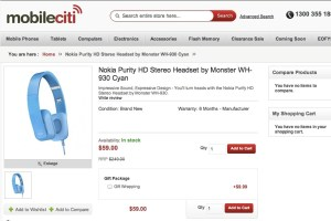 More for Australian Nokia fans: Nokia Purity HD Stereo Headset (Cyan) for just 59 AUD