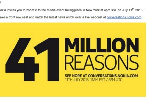 Webcast Invitation: 41million reasons to tune in to July 11th 2013, #TeamYellow #ZoomReinvented